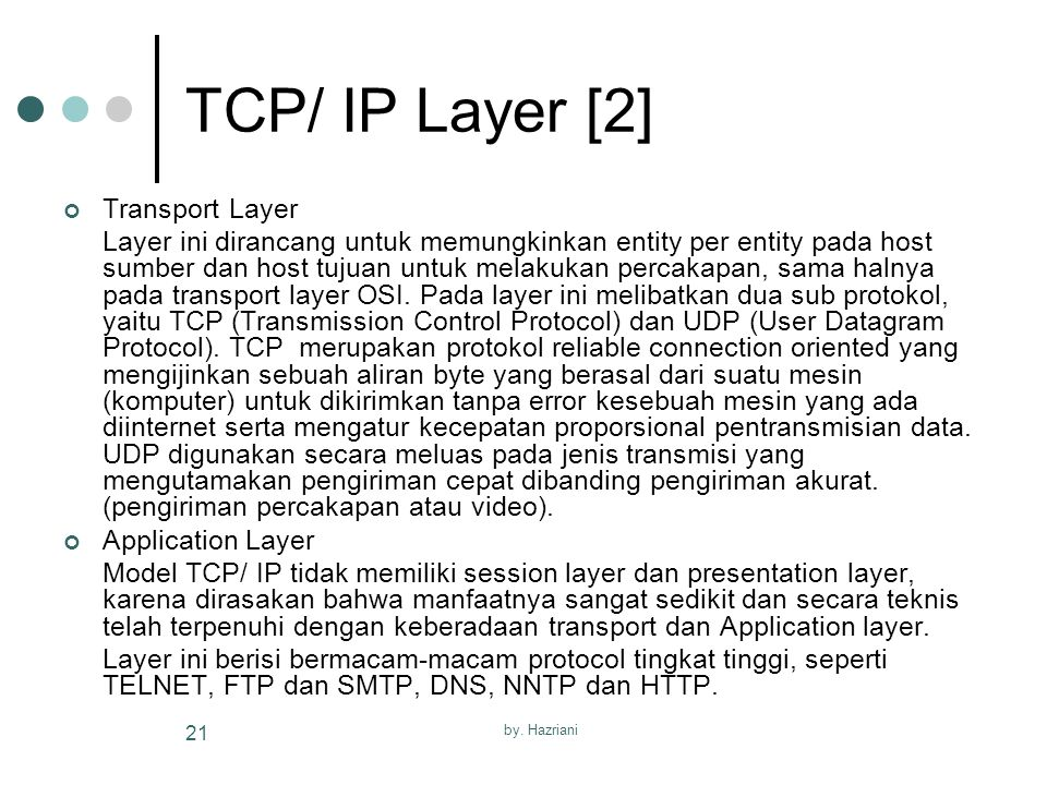 TCP/ IP Layer [2] Transport Layer